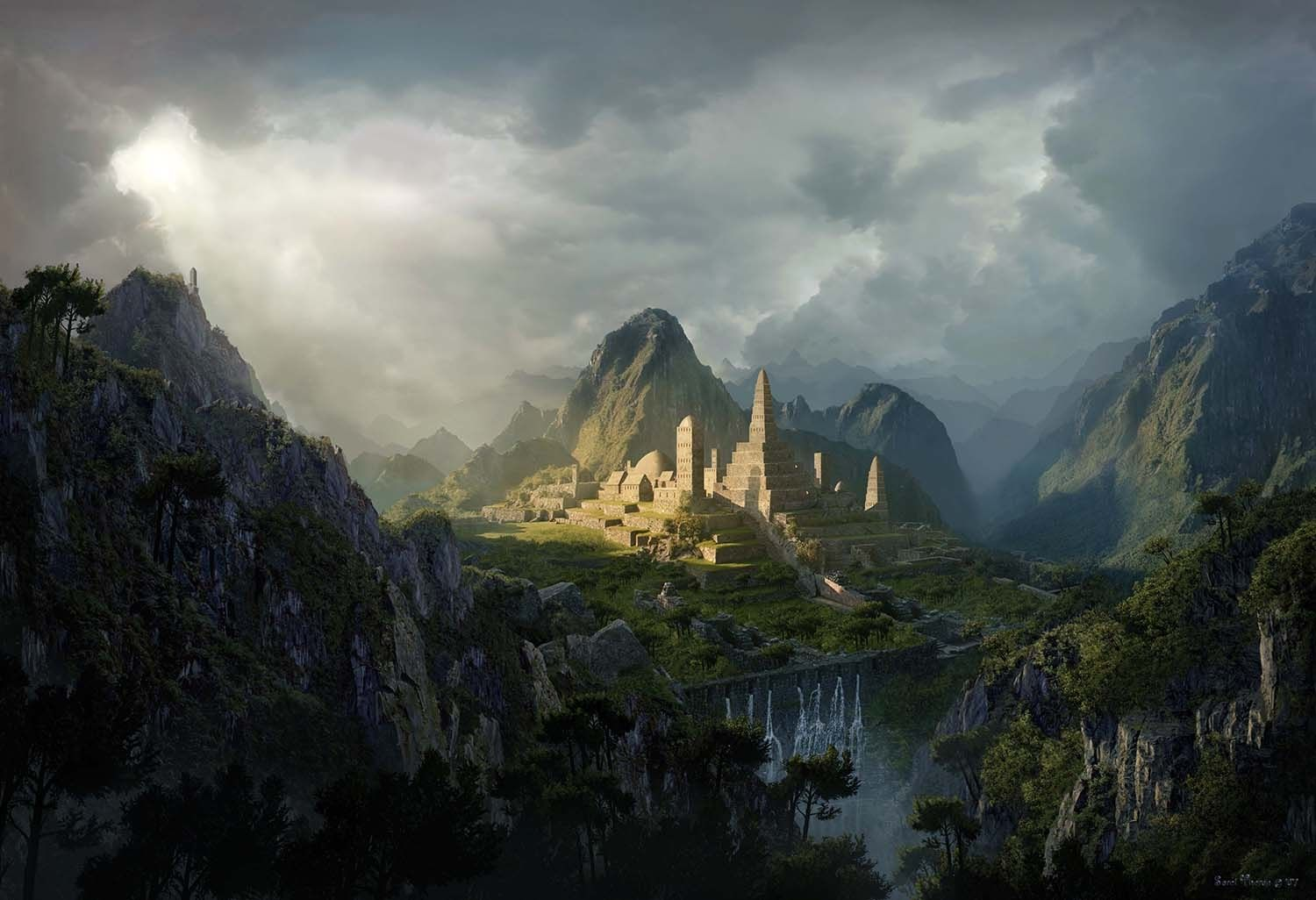 Tutoriel Matte painting jungle